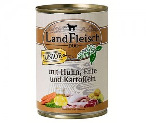 Land fleish 400g junior (kur/kaczka) sensitive